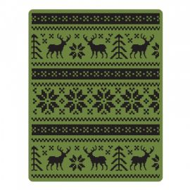 Sizzix Texture Fades A2 Embossing Folder - Holiday Knit - 661365